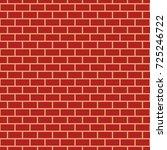 red brick wall seamless pattern ...   Shutterstock . vector #725246722