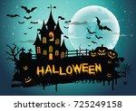 halloween night background...   Shutterstock .eps vector #725249158