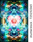 light merkaba and heart on... | Shutterstock . vector #725252365