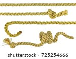 rope string knot cord isolated... | Shutterstock . vector #725254666