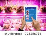 smart agriculture in futuristic ... | Shutterstock . vector #725256796