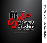 black friday sale background ... | Shutterstock .eps vector #725259766