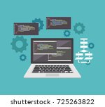 coding or programming concept.... | Shutterstock .eps vector #725263822