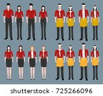fashion uniform set. fast food... | Shutterstock .eps vector #725266096