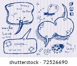 hand drawn speech and thought... | Shutterstock .eps vector #72526690
