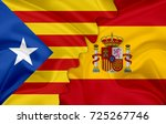 flag of spain and pro... | Shutterstock . vector #725267746