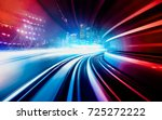abstract motion speed railway... | Shutterstock . vector #725272222