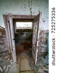 chernobyl exclusion zone....   Shutterstock . vector #725275336