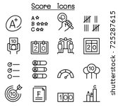 score icon set in thin line... | Shutterstock .eps vector #725287615