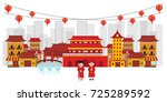 china old town | Shutterstock .eps vector #725289592