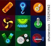 type of mechanism icons set.... | Shutterstock . vector #725291962