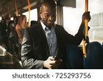 young african businessman...   Shutterstock . vector #725293756