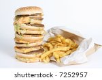 Small photo of Huge Burger and Fries