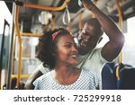 affectionate young african... | Shutterstock . vector #725299918