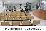 waiting area on sunday morning... | Shutterstock . vector #725305216