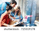 concept of business team at... | Shutterstock . vector #725319178