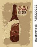beer typographical vintage... | Shutterstock .eps vector #725320222