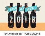 happy new beer  typographic... | Shutterstock .eps vector #725320246