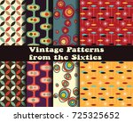 vector set of retro patterns...