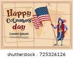 happy columbus day america...   Shutterstock .eps vector #725326126