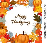 happy thanksgiving card with... | Shutterstock .eps vector #725326672