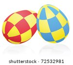eggs decorated by rectangular... | Shutterstock .eps vector #72532981