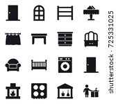 16 vector icon set   door  arch ... | Shutterstock .eps vector #725331025