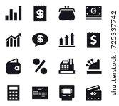 16 vector icon set   graph ...   Shutterstock .eps vector #725337742