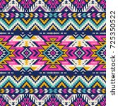 retro colors tribal vector... | Shutterstock .eps vector #725350522