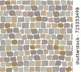 stone vector texture  cartoon... | Shutterstock .eps vector #725353498