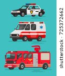 set of emergency vehicles.... | Shutterstock .eps vector #725372662