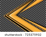 Abstract Yellow Arrow Speed...