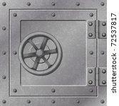 a steel strong box door with... | Shutterstock .eps vector #72537817