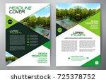 business brochure. flyer design.... | Shutterstock .eps vector #725378752