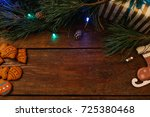 christmassy decoration... | Shutterstock . vector #725380468