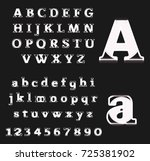 white art alphabet | Shutterstock .eps vector #725381902