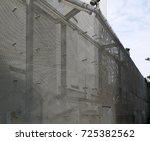 sliver aluminium metal plate.... | Shutterstock . vector #725382562