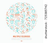 multiple sclerosis concept in... | Shutterstock .eps vector #725385742