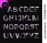 vector eps10. glowing font.... | Shutterstock .eps vector #725388796