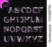 vector eps10. glowing font.... | Shutterstock .eps vector #725388796