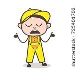 cartoon boy unknown behavior...   Shutterstock .eps vector #725401702