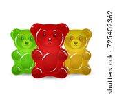 jelly bears set   Shutterstock .eps vector #725402362