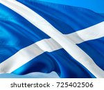 scotland. scotland flag waving... | Shutterstock . vector #725402506