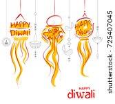 illustration of hanging kandil... | Shutterstock .eps vector #725407045