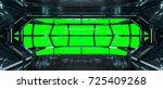 Spaceship Dark Interior With...