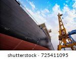 shipbuilding plant | Shutterstock . vector #725411095
