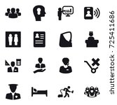 16 vector icon set   group ... | Shutterstock .eps vector #725411686