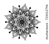 mandala for coloring book.... | Shutterstock .eps vector #725412796