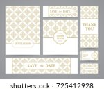 set of ornate vector cards.... | Shutterstock .eps vector #725412928