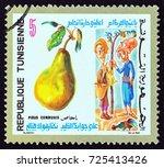 tunisia   circa 1971  a stamp... | Shutterstock . vector #725413426